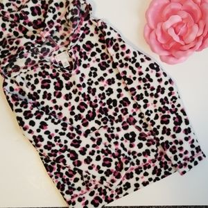 CHILDREN'S PLACE LEOPARD PRINT PULLOVER HOODIE